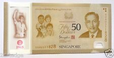 2015 SG50 Commemorative LKY Singapore Independence $50 Dollar Polymer Note UNC