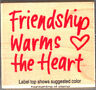 Friendship Warms The Heart Hero Arts Rubber Stamp  Wood Mounted