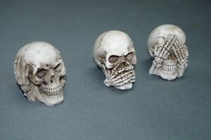 Set von 3 Stück  Totenkopf  Skull  Briefbeschwerer  6 cm Paperwight  Konvolut