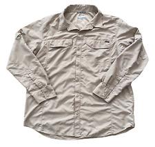 New listing Columbia Omni-Shade Shirt Men's Size 2XL Button Down Long Sleeve Tan Fishing