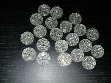 CLEAR sparkle glue on  JEWEL 14mm GEM CRYSTAL RHINESTONE trim Bead
