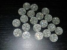 CLEAR sparkle glue on  JEWEL 14mm GEM CRYSTAL RHINESTONE trim Bead