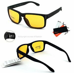 Rennec Kontrastbrille Nachtfahrbrille Nachtsicht Autobrille Sonnenbrille Gelb