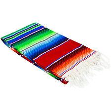 "Medium Mexican Sarape Sarapes Saltillo Serapes Blanket  48"" x 80"" RED"