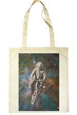 Albert Einstein cycling in space Tote Shopper Bag