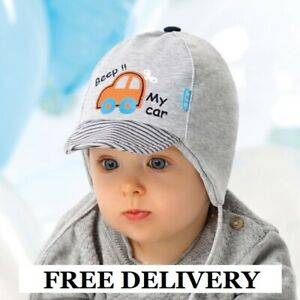 NEWBORN rich cotton boys hat TIE UP Infant KIDS BABY BOY New HATS