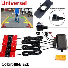 Visible Car Parking Sensor Reverse Backup Radar Alarm System+4X16MM Flat Sensors