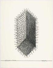 """Günther Uecker """"Hommage a Picasso"""" betitelt, bezeichnet, handsigniert"""