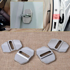 4Pcs Stainless Steel Car Door Lock Protective Cover For Mercedes-Benz B C E SLK