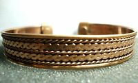 Pain Relief Bangle Cuff Magnetic Copper Bracelet Healing Bio Therapy Arthritis