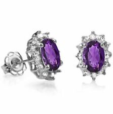 Butterfly Fastening Amethyst Not Enhanced Fine Earrings