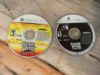 Guitar Hero: World Tour & 3 Legends Of Rock Xbox 360 Games- Disc Only Tested