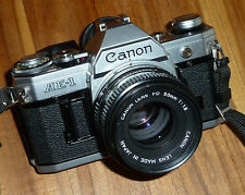 Canon ae-1 funda neopreni cámara reflex con lente FD 50 mm 1:1,8