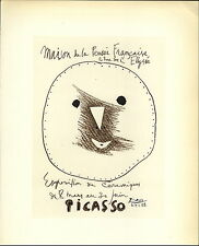1959 Mini Poster Lithograph ORIG Print P Picasso Ceramics Ceramiques Pensee 2