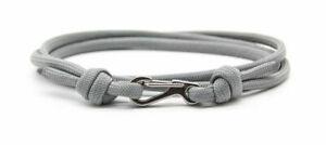 Grey Carabiner Handmade 550 Paracord Bracelet