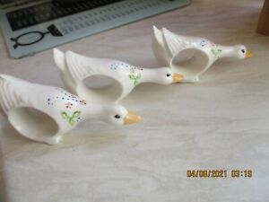 geese napkin rings x 3