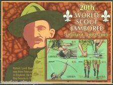 LIBERIA 2002 20th WORLD SCOUT JAMBORRE  IMPERFORATED SHEET MINT NH