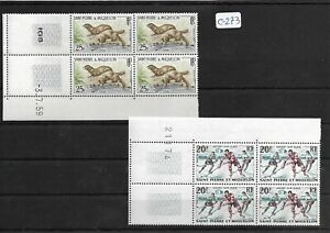 SMT 138, SPM  ANIMALS LUXURY set  of 2 stamps in block of 4, MNH very rare