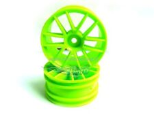 02018G CERCHI 1/10 VERDE ESAGONO 12MM 2pz GREEN SPOKE WHEEL RIMS ON ROAD HIMOTO