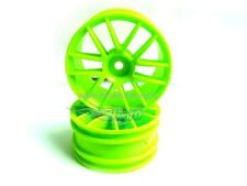 02018G CERCHI 1/10 VERDE ESAGONO 12MM 2pz GREEN SPOKE WHEEL RIMS ON ROAD HIMOTO