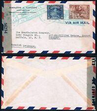 1940s El Salvador to Buffalo New York Censored Mail