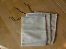 25 (6x8) Black Hem and Black Drawstring muslin bags
