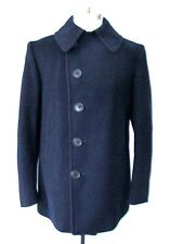 Vtg 40s WWII Naval Clothing Military Navy Wool Peacoat Corduroy Pockets 38