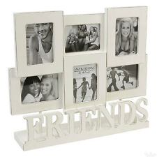 """Friends 6 Multi Aperture Collage Photo Frame 2x3"""" Picture Shabby Chic Decor Gift"""
