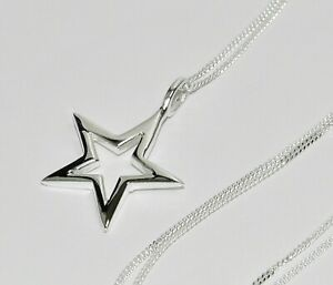 Sterling Silver STAR Pendant ~ Choice of Chain / Necklace