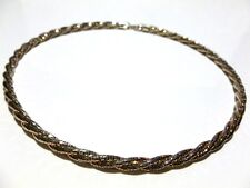 "HEAVY UNIQUE MILOR ITALY STERLING SILVER TWISTED BEAD CABLE NECKLACE 17"" 5mm"