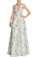 $2495 TORY BURCH Patterned Jacquard  DOTTED CLOQUE Gown, IVORY DALHIA, 6 , NWT