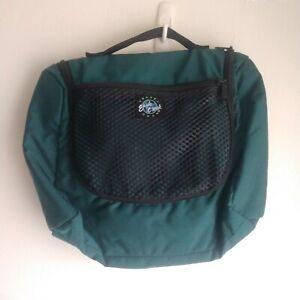 Eagle Creek Travel Gear Hanging Toiletry Make Up Bag Green Multi Pockets Zipper