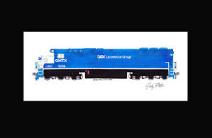 "GATX SD60 #9014 11""x17"" Matted Print Andy Fletcher signed"