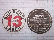 Beer Coaster ~*~ Arth GUINNESS Hop House Lager ~*~ St James Gate Brewers Project