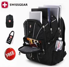 "Swiss Gear 17.3"" Laptop Backpack Waterproof Travel Bag Camping Hiking Rucksack"