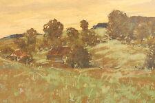 Emil Ludwig EULER (1878-1955) Frühlingswiese im Taunus Pastell Bad Schwalbach