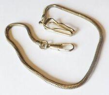 chaine de montre chatelaine maille ronde mousqueton crochet couleur or * 4088