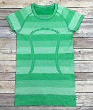 Lululemon Swiftly Tech Short Sleeve Crew Top Size 6 Heathered Green Bean