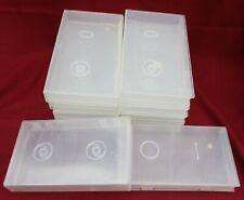 Lot (10) VHS Videocassette Dust Proof Semi-Transparent VCR Tape Storage Cases