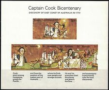 Australia SC482Souv.Sht. CaptJamesCook'sDiscoveryOfEasternCoastOfAustr. MNH 1970