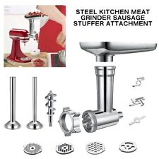 New Steel Meat Grinder Sausage Stuffer Attachment For KitchenAid Stand Mixer