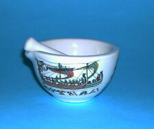 PF Porcelaine Limoges - Stylish Mortar and Pestle Decorated with Battle Scenes.