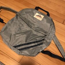 Vintage Alpine Backpack Daypack 2 Compartment Gray Knapsack Sack Bag Grey
