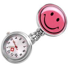 Smile Face Clip Nurse Pendant Pocket Quartz Watch New I3C5