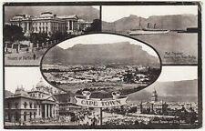 SOUTH AFRICA - Cape Town Multi View - 1919 used postcard