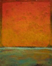 Modern Original Painting Fine Art Sunset Orange Gold Abstract Anya Landscape