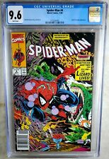 Spider-man #4 NEWSSTAND Marvel 1990 Lizard CGC 9.6 NM+ White Pages Comic M0146