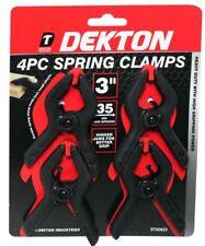 """4 x 3"""" Forte Plastique Spring Clamps Stand De Marché Clips Nylon Large Bâche"""