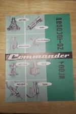 Vtg Commander Mfg Co Catalog~Drill Unit/Tapper/Chip Breaker~Tool Brochure