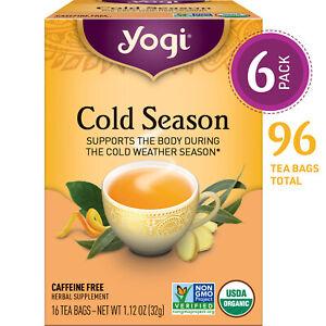 Yogi Tea - Cold Season - 6 Pack, 96 Tea Bags Total